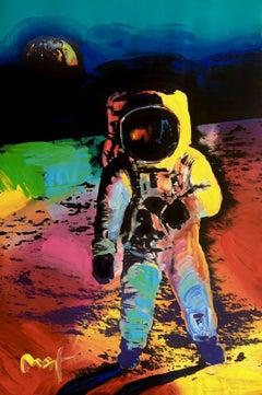 Moonwalk, Mixed Media Painting, Peter Max - SIGNED