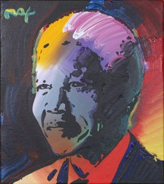 Nelson Mandela, Pop Art Portrait by Peter Max