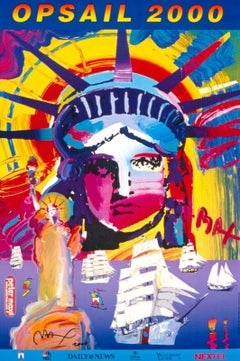 OPSAIL, Original 2000 Offset Litho, Peter Max -SIGNED