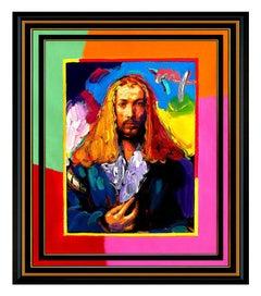 PETER MAX Acrylic Painting ORIGINAL of Artist ALBRECHT DURER Signed POP ART oil