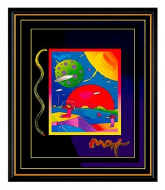 PETER MAX Acrylic Painting ORIGINAL Signed YEAR 2250 Pop ART large retro Rare