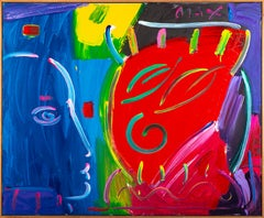 """Peter Max Original Acrylic Painting Commissioned Large 50"""" x 60"""" 1/1 Image"""
