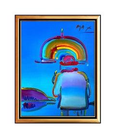 Peter Max, Umbrella Man, Acrylic on Canvas