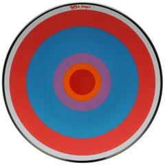 Peter Max Pop Art Mod 1960s Bullseye Glass Plate