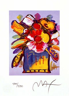 Abstract Flowers II, Limited Edition Lithograph, Peter Max - SIGNED