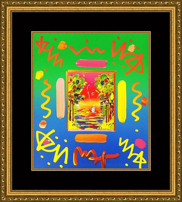 BETTER WORLD COLLAGE I (OVERPAINT) - Pop Art Mixed Media Art by Peter Max