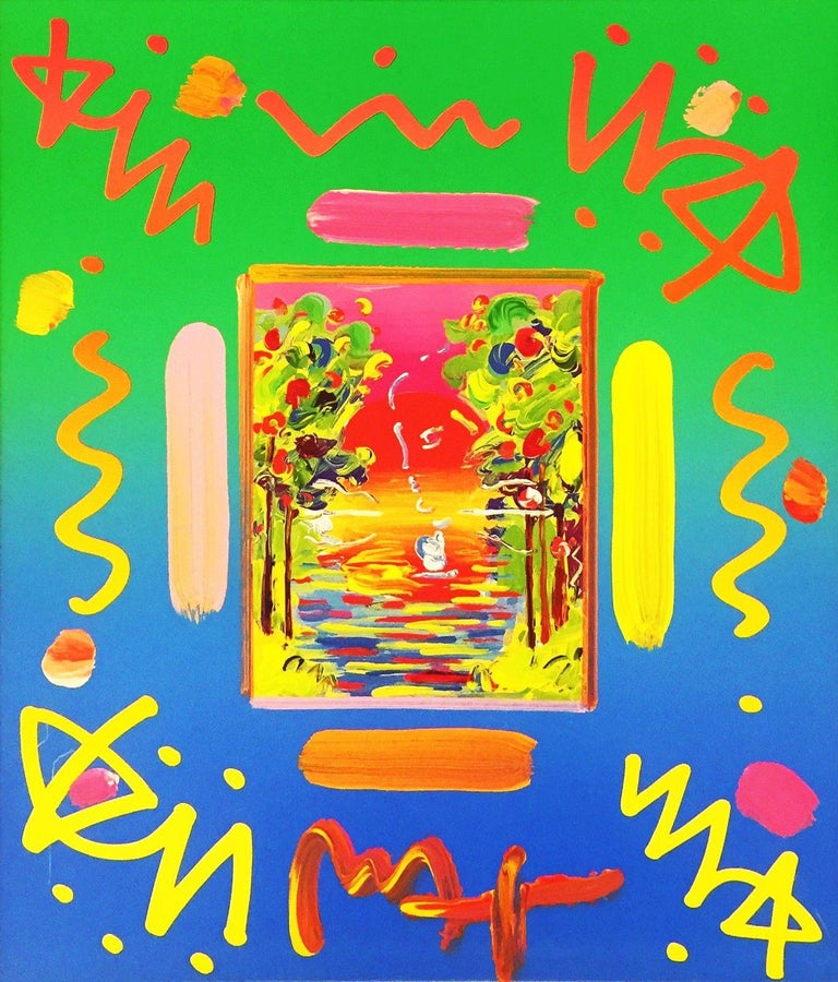 BETTER WORLD COLLAGE I (OVERPAINT) - Mixed Media Art by Peter Max