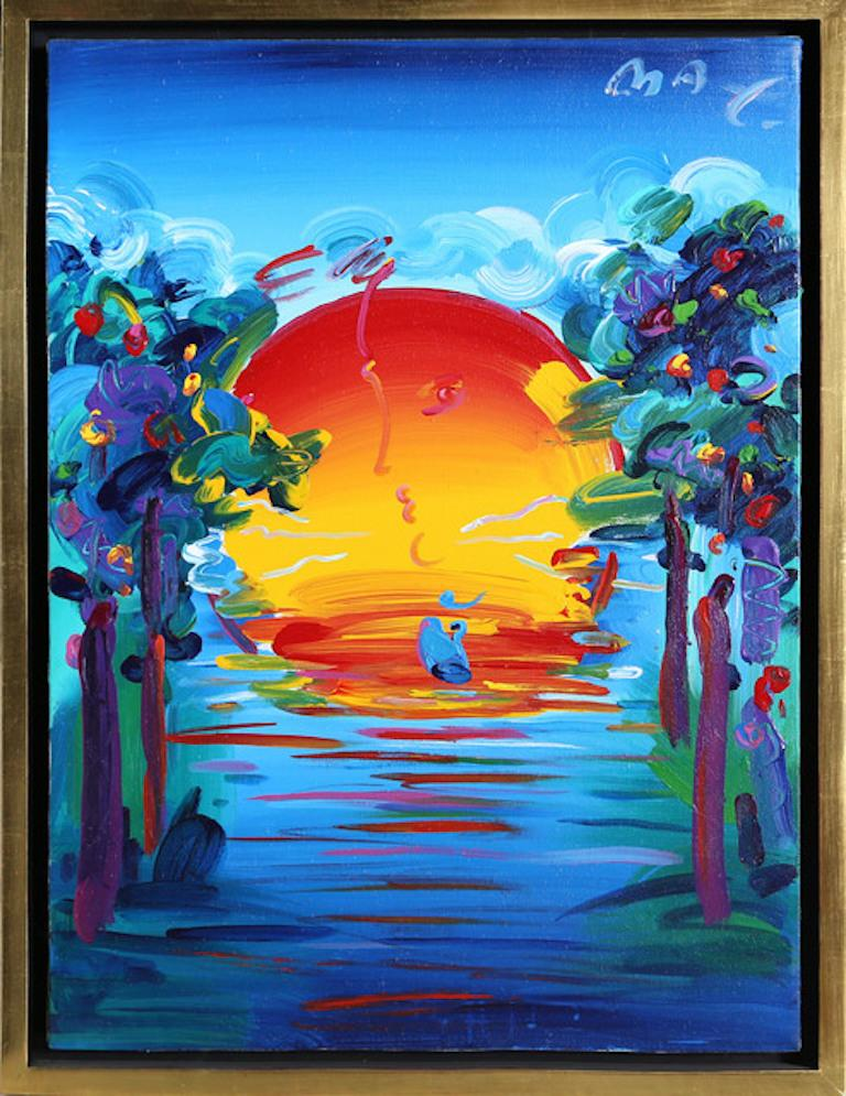 - Artwork comes with a certificate of authenticity - Hand signed by Peter Max - Limited Edition Serigraph, Edition 320/350 - Comes with a premium quality frame