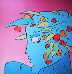 Blue Lady Planet - Serigraph by Peter Max