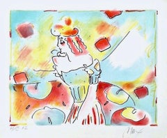 Composition Red & Green, Limited Edition Lithograph, Peter Max - SIGNED