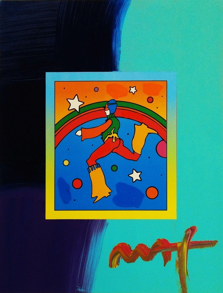 COSMIC JUMPER (OVERPAINT) - Mixed Media Art by Peter Max