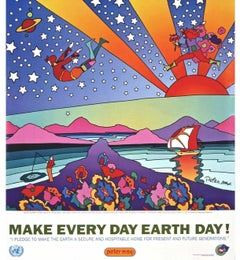 Earth Day, 1995 Event Offset Lithograph -SIGNED