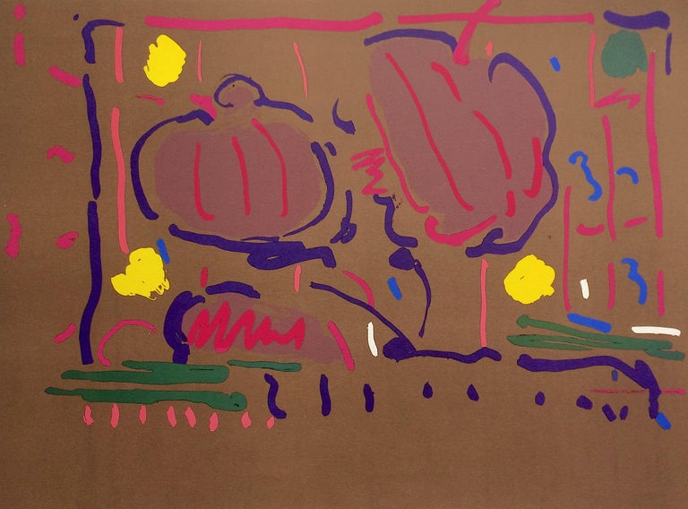 Peter Max Still-Life Print - EARTH FLOWERS Signed Lithograph, Psychedelic, Modern Floral, Pop Art