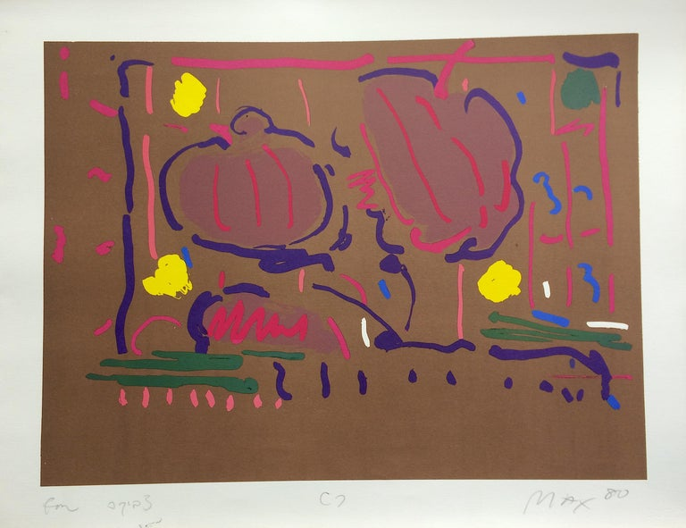 EARTH FLOWERS Signed Lithograph, Psychedelic, Modern Floral, Pop Art - Print by Peter Max