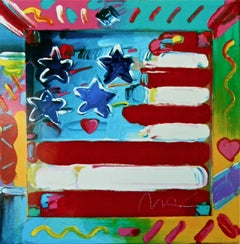 Flag, (Retro Suite II), Limited Edition Silkscreen, Peter Max - SIGNED