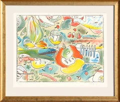 Flower Abstract, Lithograph by Peter Max