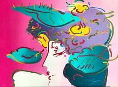 FLOWER SPECTRUM II, Signed Lithograph, Contemporary Female Portrait Pop Art