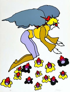 Flowering Angel, Limited Edition Silkscreen, Peter Max - SIGNED