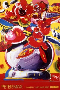 Flowers II - NEOFAUVE, Original 2000 Lithograph, Peter Max -SIGNED