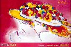 Friends / Century Ladies, Original 1991 Lithograph, Peter Max -SIGNED
