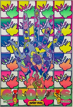 Gloves, Original 1969 Vintage Offset Lithograph - SIGNED