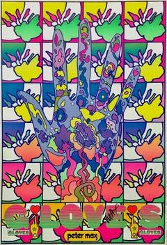 Gloves, Signed Original 1969 Vintage Poster Psychedelic