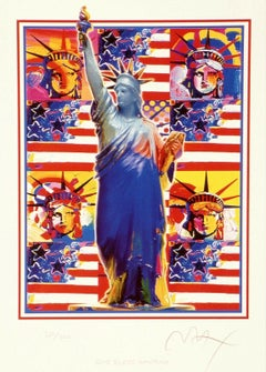 God Bless America, Ltd Ed Lithograph, Peter Max - SIGNED