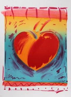 Heart II, Pop Art Lithograph by Peter Max 1981