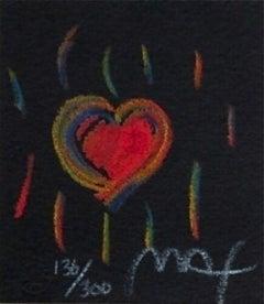 "Heart Suite III #II, Ltd Ed Litho (Mini 2.75"" x 2.5""), Peter Max - SIGNED"