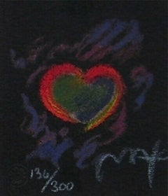 "Heart Suite III #III Ltd Ed Litho (Mini 2.75"" x 2.5""), Peter Max - SIGNED"