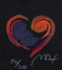 "Heart Suite III #IV, Ltd Ed Litho (Mini 2.75"" x 2.5""), Peter Max - SIGNED"