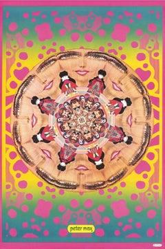 Kaleidoscopic Lips, Original 1967 Vintage Poster, Peter Max -SIGNED - RARE