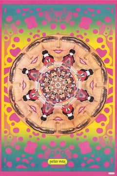 Kaleidoscopic Lips, Signed Original 1967 Vintage Offset Lithograph Psychedelic