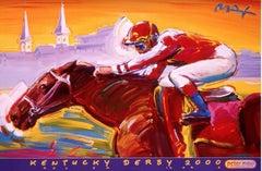 Kentucky Derby, Original 2000 Event Lithograph, Peter Max -SIGNED