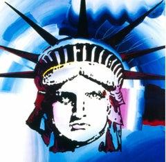 Liberty 2000, Original 2000 Lithograph, Peter Max -SIGNED