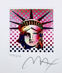 "Liberty Head II, Ltd Ed Lithograph (Mini 3.5"" x 3""), Peter Max - SIGNED"
