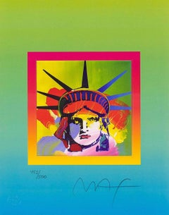 Liberty Head On Blends IV, Ltd Ed Lithograph, Peter Max - SIGNED