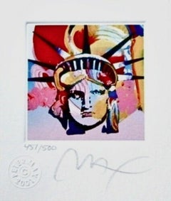 "Liberty Head VI, Ltd Ed Lithograph (Mini 3.5"" x 3""), Peter Max - SIGNED"