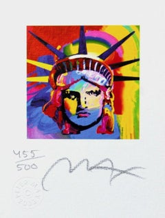 Liberty Head VIII (Mini) Limited Edition Lithograph, Peter Max - Signed