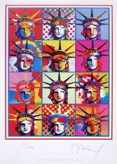 Liberty & Justice for All, Limited Edition Lithograph, Peter Max - SIGNED
