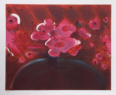 """Marilyn's Flowers II"" Lithograph by Peter Max"