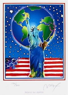 Peace on Earth, Limited Edition Lithograph, Peter Max - SIGNED