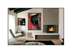 Peter Max Large Color Screenprint Zero Man Portrait Signed Pop Art Painting Art