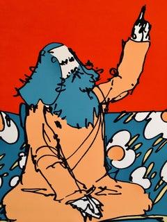 Peter Max Limited Edition Silkscreen 1/100/ 'Sri Swami Satchidananda'