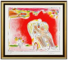 Peter Max The Garden Vintage Color Silkscreen Hand Signed Pop Art Dega Man SBO