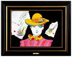 Peter Max Vintage Color Screenprint Hand Signed Pop Artwork If Cosmic Artwork