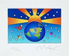 "Protect Our Home Ver. I Limited Edition (Mini 5"" x 6.25"") Peter Max SIGNED"