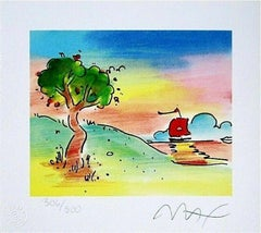 Quiet Lake, Limited Edition Lithograph, Peter Max - SIGNED