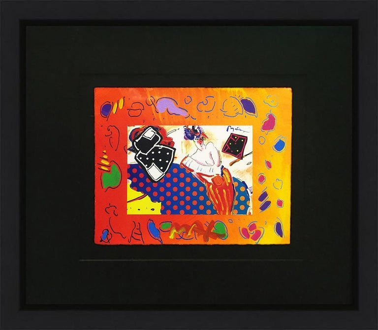 RISING SUN COLLAGE 2 (OVERPAINT) - Pop Art Mixed Media Art by Peter Max