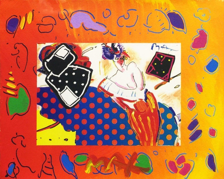 RISING SUN COLLAGE 2 (OVERPAINT) - Mixed Media Art by Peter Max